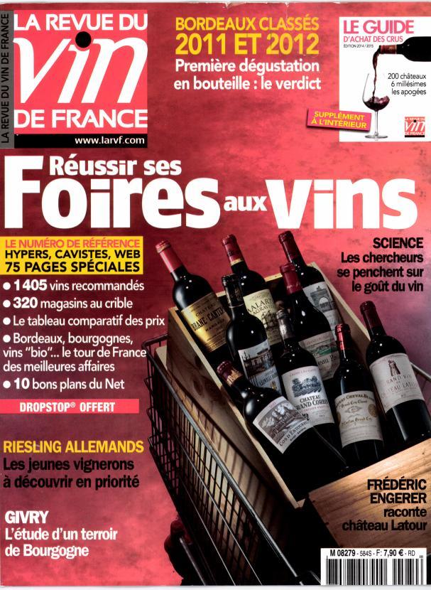 Reussir ses foires aux vins tabac presse vitr 35 for Revue vin de france